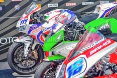 Drei verschiedene Hersteller auf dem Supersport-Podium: Honda, Kawasaki und MV Agusta