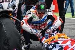 Nicky Hayden wollte den vierten Podestplatz der Saison holen.
